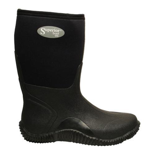 Men's Superior Boot Co. 11in Mud Boot Black Neoprene