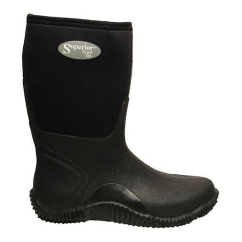 Men's Superior Boot Co. 11in Mud Boot Black Neoprene