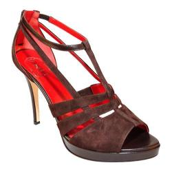 Women's Takera Shoes Asjha Dark Brown Suede