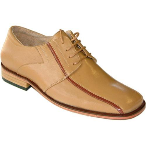 Men's Zapato Oxford GE-01 Gold Calfskin Leather