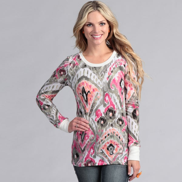 Institute Liberal Women's Long Sleeved Tribal Print Shirt