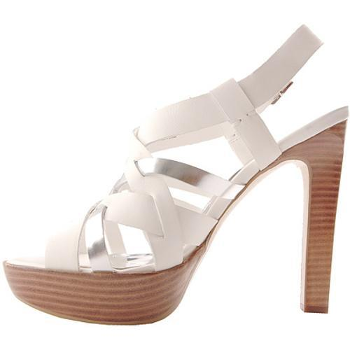 Women's BCBGirls Dorothy Pure White/Y Silver Raw Leather