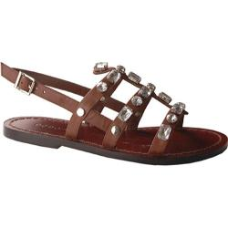 BCBGirls Women's Peony Rich Brown Leather