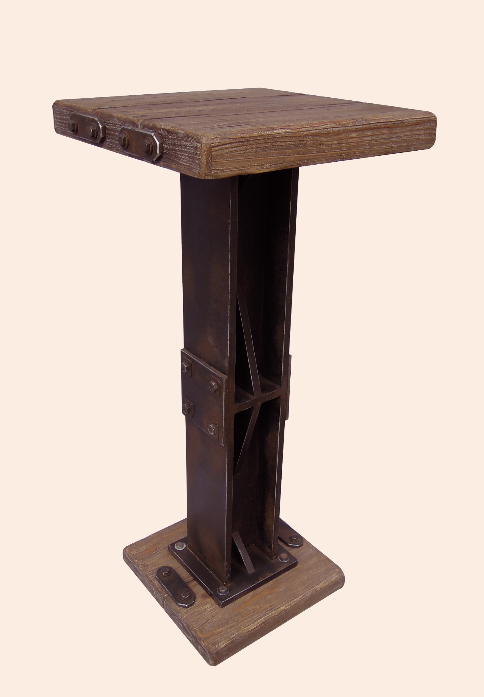 Rustic Forge Bar-height Square Bistro Table
