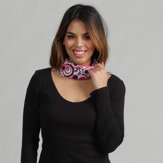 O3 Black and Pink Circle Print 'Rag Tops' Convertible Headwear