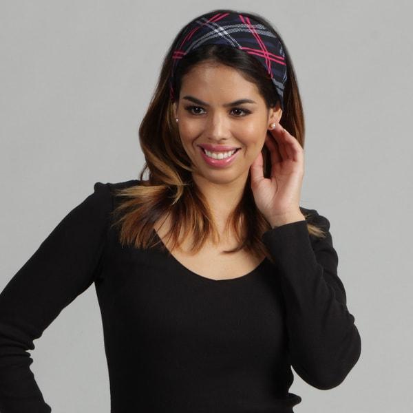 O3 Adult Rag Tops Pink/Black Plaid Convertible Headwear
