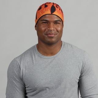O3 Adult Rag Tops Red Flames Convertible Headwear
