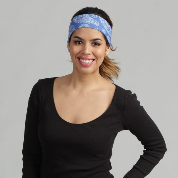 O3 Adult Rag Tops Blue Paisley Convertible Headwear