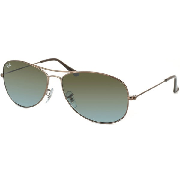 Ray-Ban Women's 'RB 3362 Cockpit' Brown Metal Aviator Sunglasses