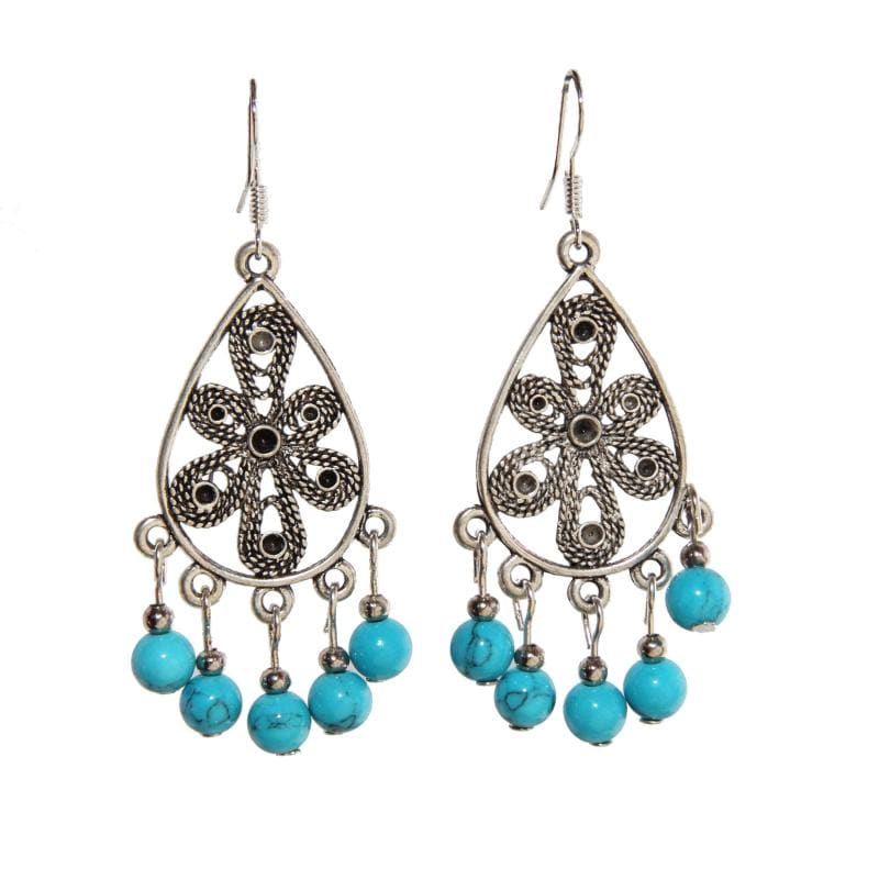 Droplets Turquoise Earrings (China)