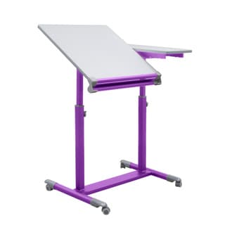 Studio Designs Purple/White Europa Craft/Drafting Split-top Station