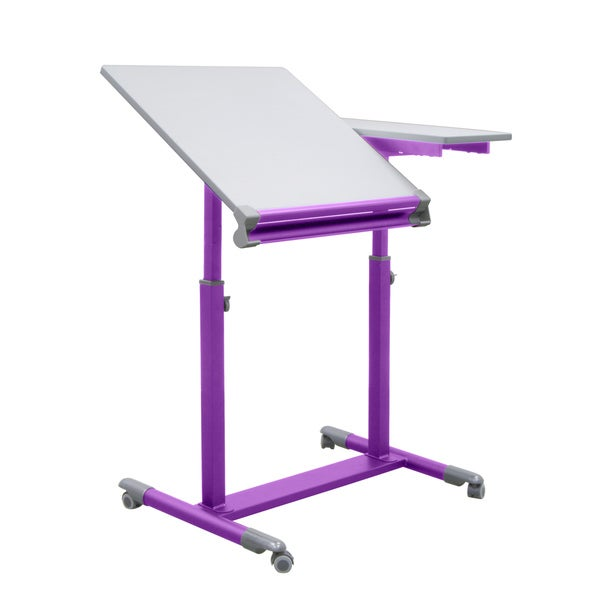 Studio Designs Purple/White Europa Craft/Drafting Split-top Station