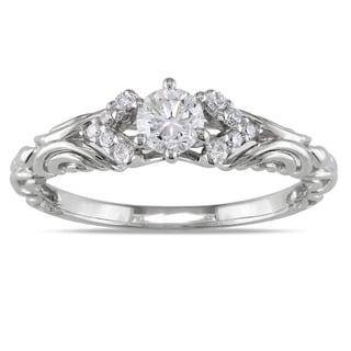 Miadora 14k White Gold 3/8ct TDW Diamond Ring (G-H, I1-I2)