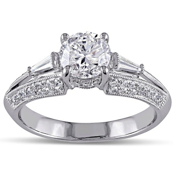 14k White Gold 1 1/2ct TDW Taper Baguette Diamond Ring (G-H, I1-I2)