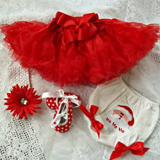 Holiday Red Pettiskirt/Tutu Set