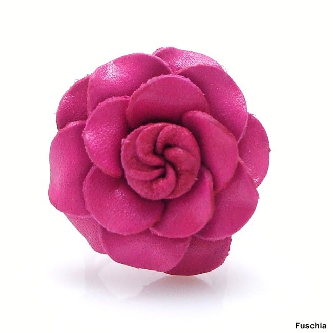Grandiflora Rose Genuine Leather Free Size Ring (Thailand)