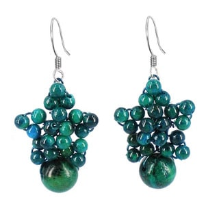 Sweet Star Round Globe Stones Earrings (Thailand)