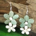 Sweet Floral Connections Natural Stone Earrings (Thailand)