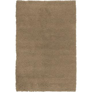 Hand-woven Avon Tan Wool Rug (8' x 10'6)