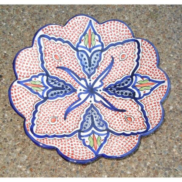 Large Morroccan Ceramic Camellia Plate (Morocco)