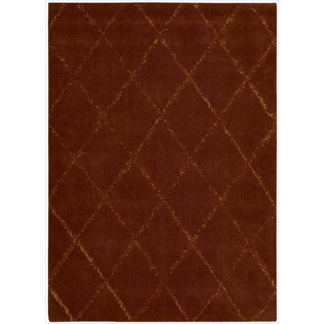 Casual Nourison Joseph Abboud Hand-Tufted Monterey Red Rug (7'9 x 9'9)
