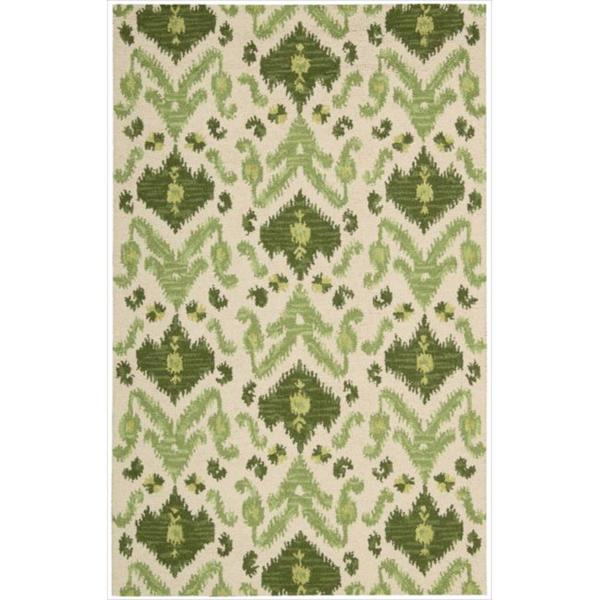 Nourison Hand-tufted Siam Green/Ivory Rug (8' x 10'6)