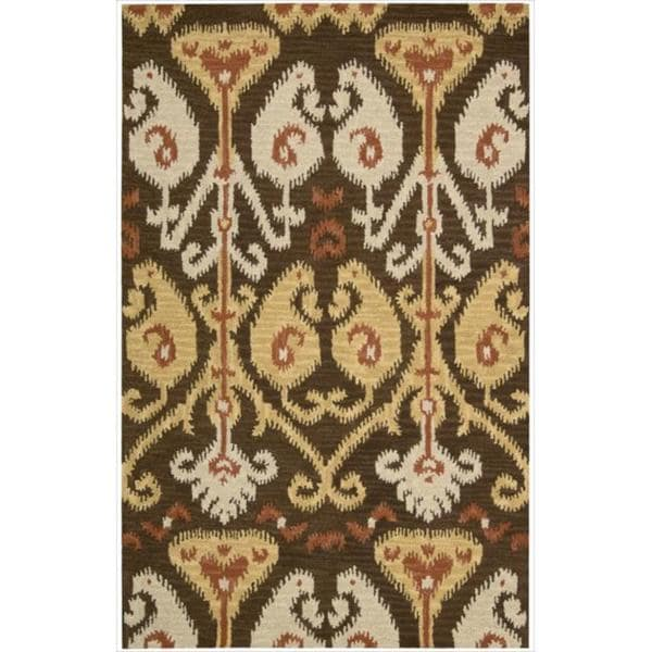 Nourison Hand-tufted Siam Chocolate Rug (5'6 x 7'5)