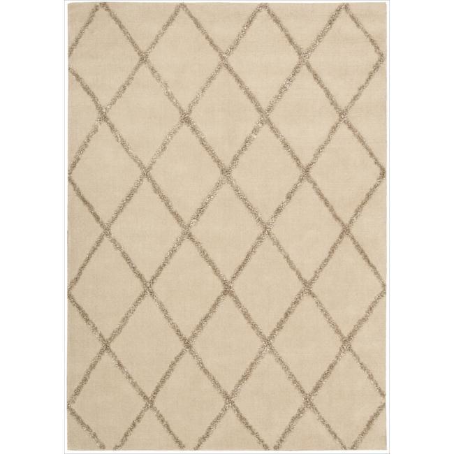 Nourison Joseph Abboud Hand-tufted Monterey Beige/Sand Rug (7'9 x 9'9)