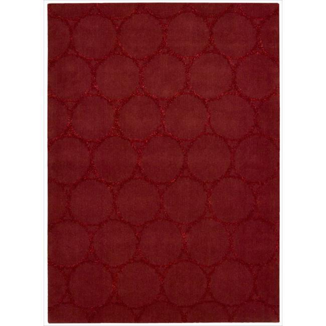 Nourison Joseph Abboud Hand-tufted Monterey Red Rug (7'9 x 9'9)