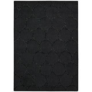 Nourison Joseph Abboud Hand-tufted Monterey Charcoal Rug (7'9 x 9'9)