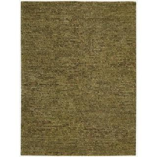 Nourison Hand-tufted Fantasia Textured Terracotta Rug (5'6 x 7'5)