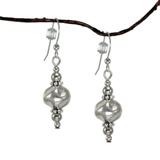 Silver Nugget Dangle Earrings