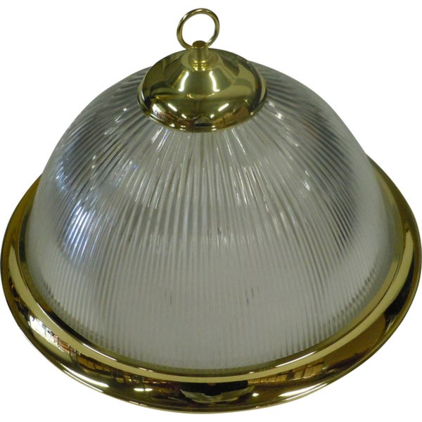 1-light Polished Brass Pendant