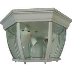 Clear Beveled 3-light White Flush Mount