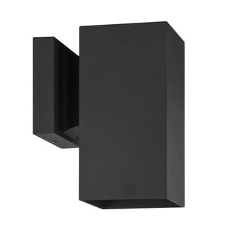 1-light Black Aluminum Square Wall Sconce