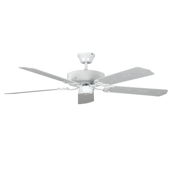 White 5-blade Porch Fan