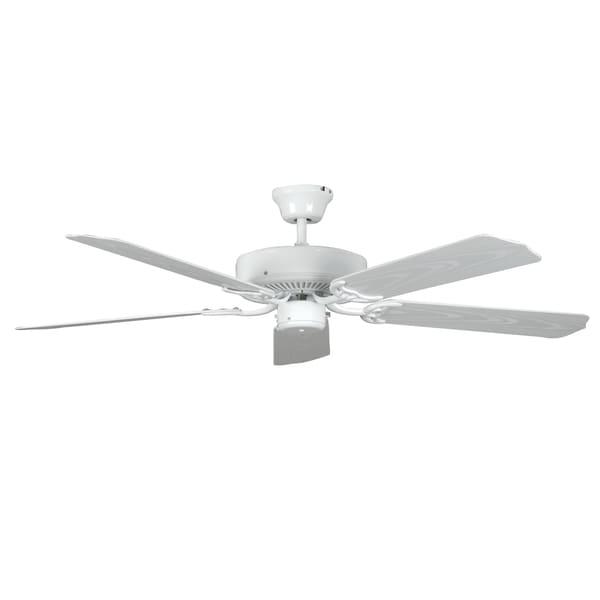 White 5-blade Porch Fan