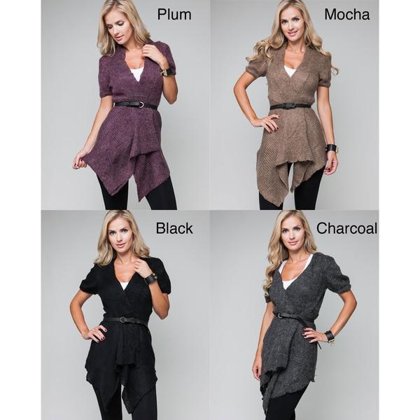 Stanzino Women's Belted Wool Cardigan