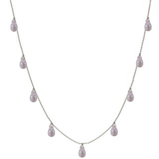 Ashanti Rose Quartz Briolette Necklace (Sri Lanka)