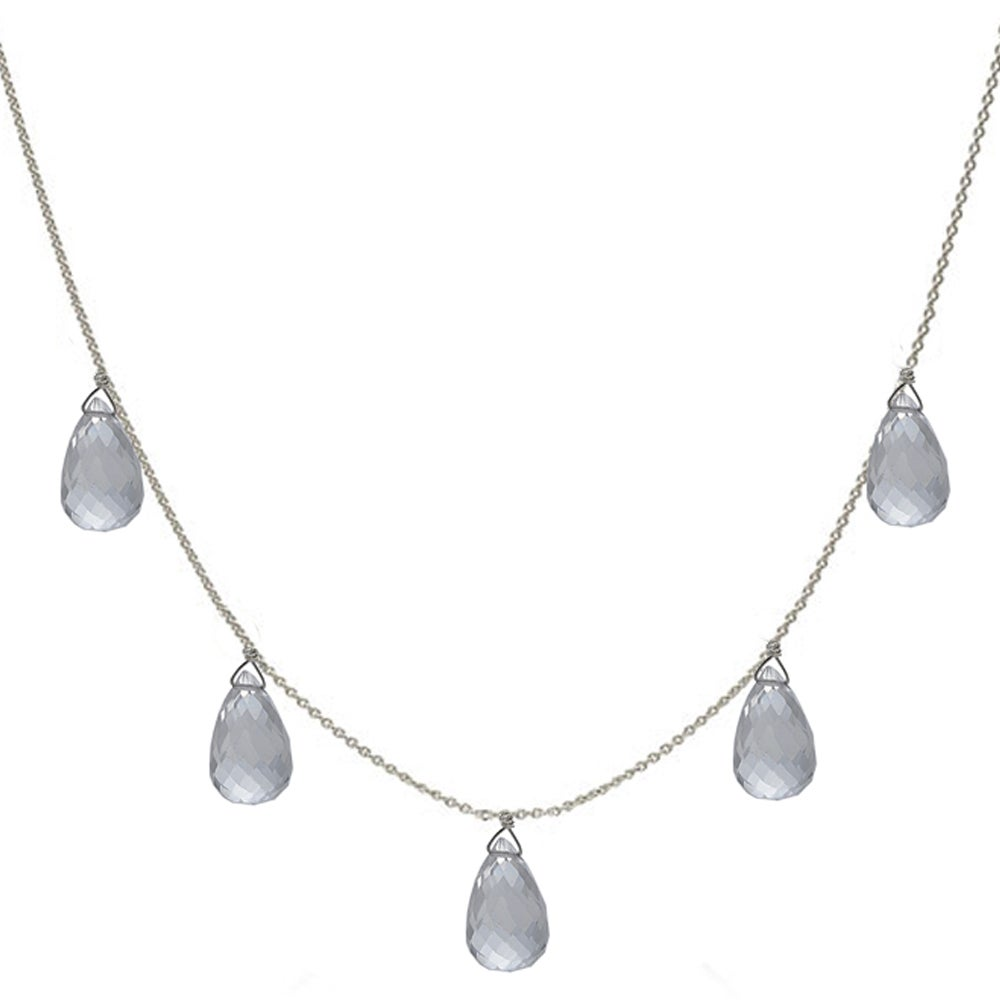 Ashanti Natural Rock Crystal Briolette Necklace (Sri Lanka)
