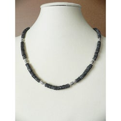 "'Black Sand Beach' Men's 19""Puka Shell Necklace"