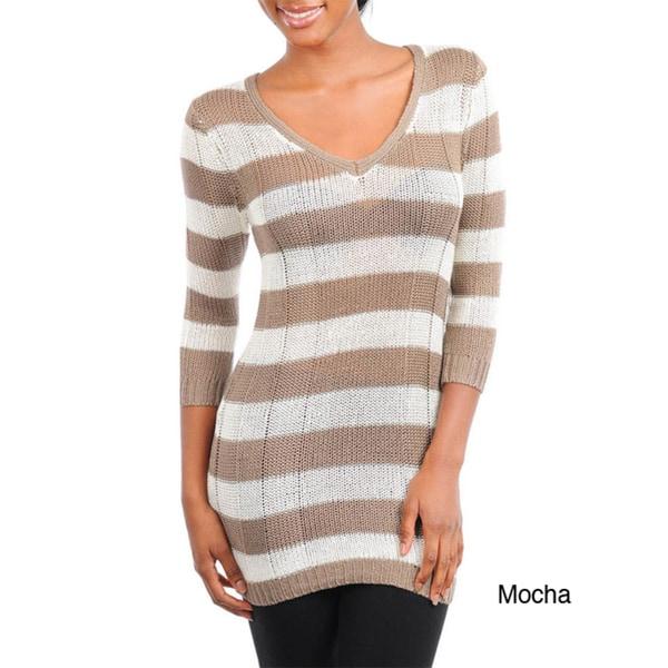 Stanzino Women's Striped Long Sleeved Sweater