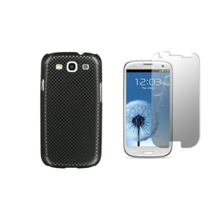 Carbon Fiber Designer Luxury Case and Screen Protector for the Samsung Galaxy S III (I9300) (AT&T, T-mobile, Sprint, Verizon)