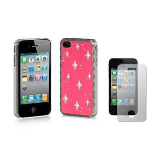 Sparkling Rhinestone Kunoichi Ninja Luxury Designer Case and Screen Protector for the Apple iPhone 4 / 4S