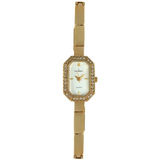 Peugeot Women's Vintage Goldtone Crystal Watch