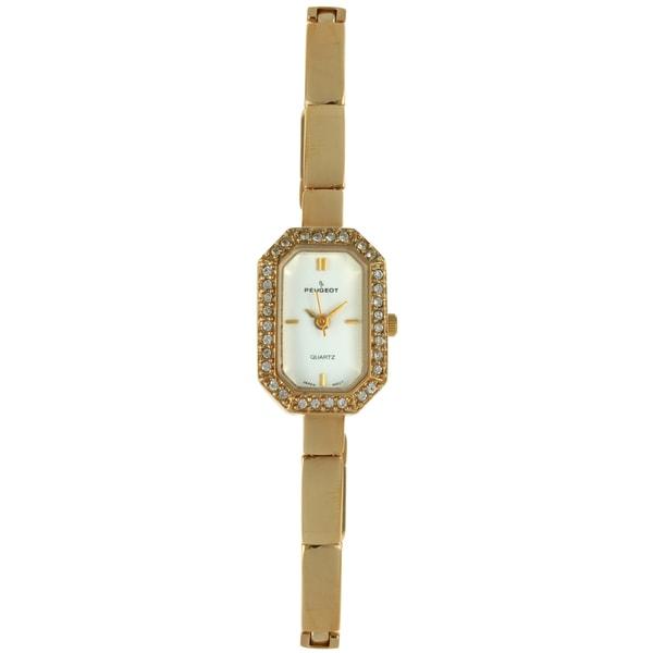 Peugeot Women's Vintage Goldtone Crystal Watch