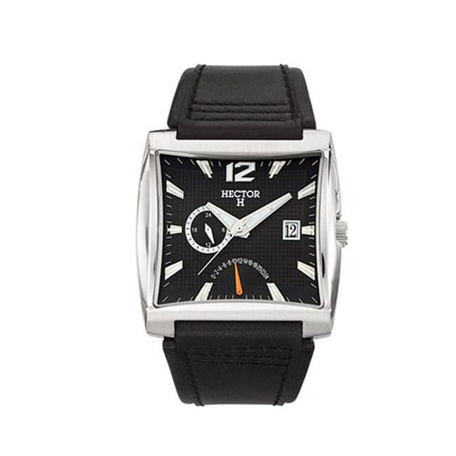 Hector H France Men's Classic Square Black Date Watch