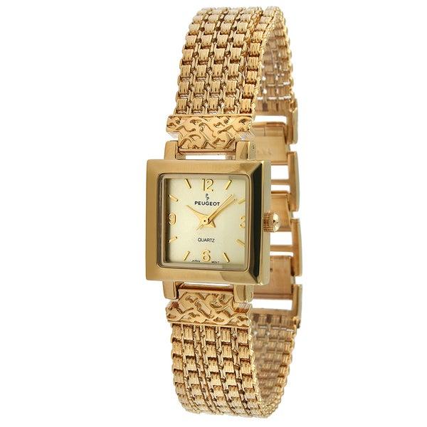 Peugeot Women's Antique Five Strand Goldtone Chain Watch