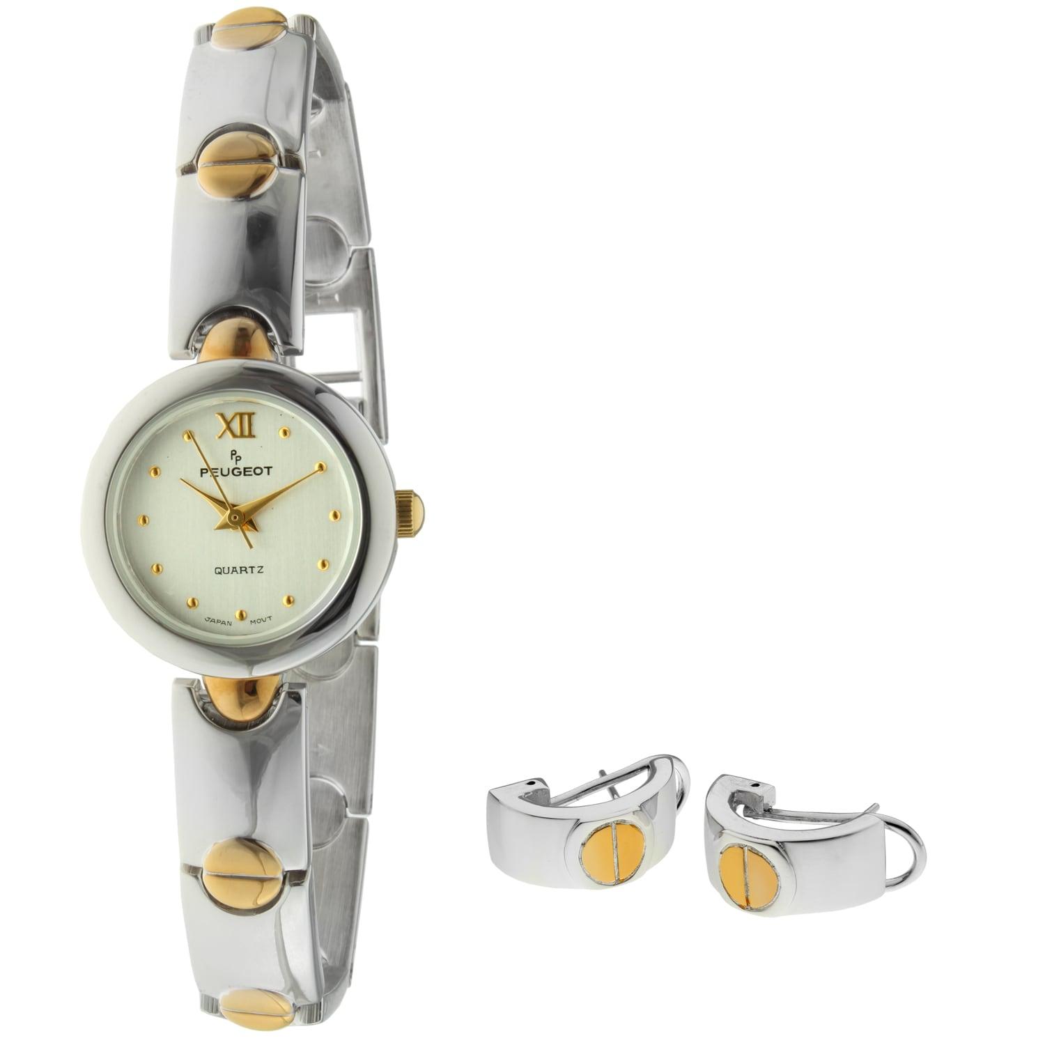 Peugeot Women's Two-tone Watch and Earring Set