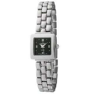 Peugeot Women's Black Dial Silvertone Watch